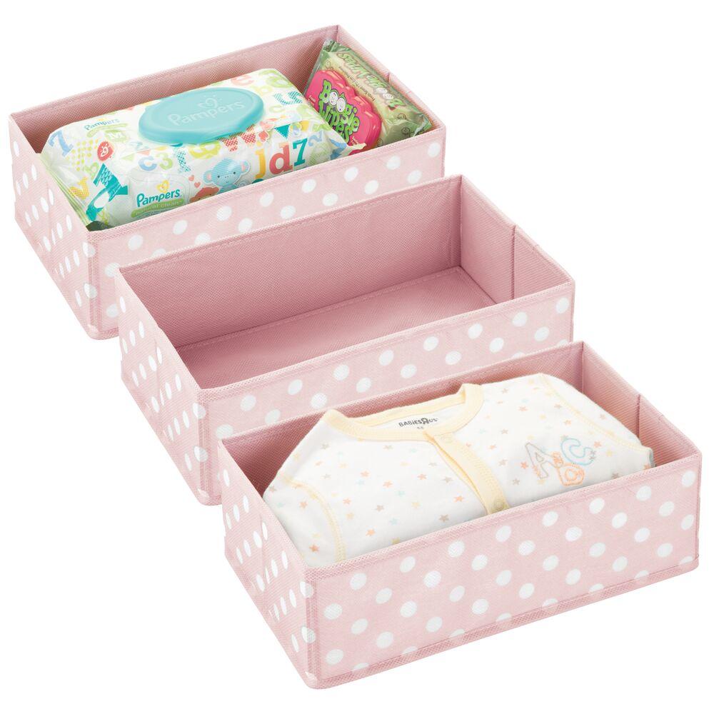 Kids Fabric Closet / Dresser Drawer Storage Organizer in Pink/White, 12