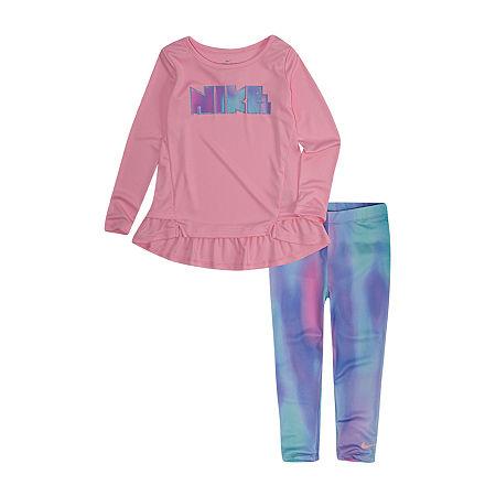 Nike Toddler Girls 2-pc. Legging Set, 4t , Pink