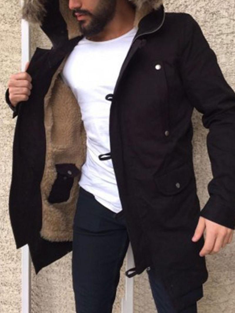 Ericdress Color Block Hooded Patchwork Casual Men's Winter Jacket