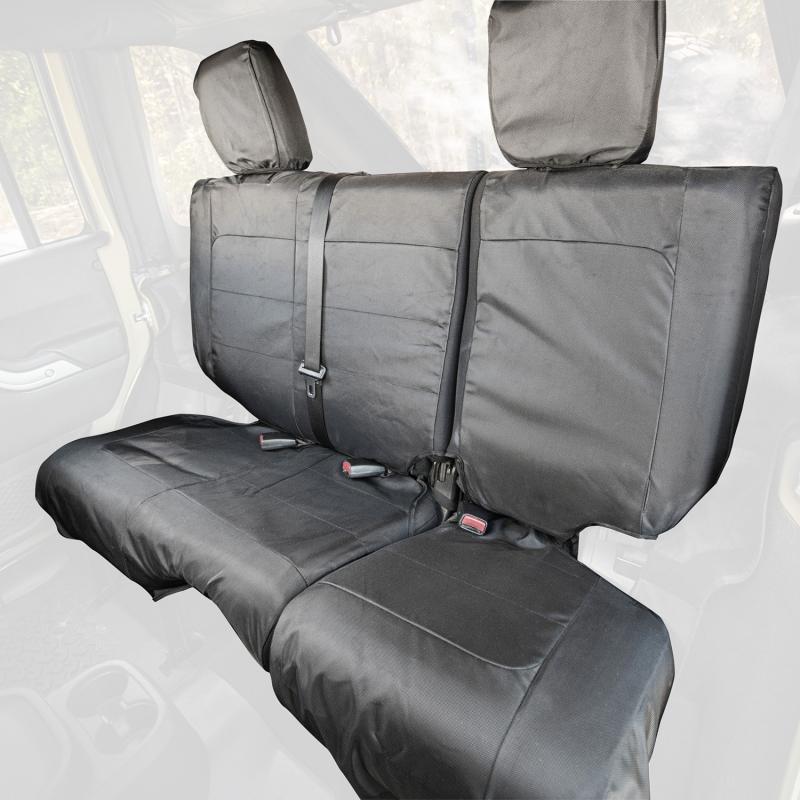 Rugged Ridge 13266.06 Ballistic Seat Cover, Rear, Black; 07-10 Jeep Wrangler JKU, 4 Door Jeep Wrangler 2007-2010