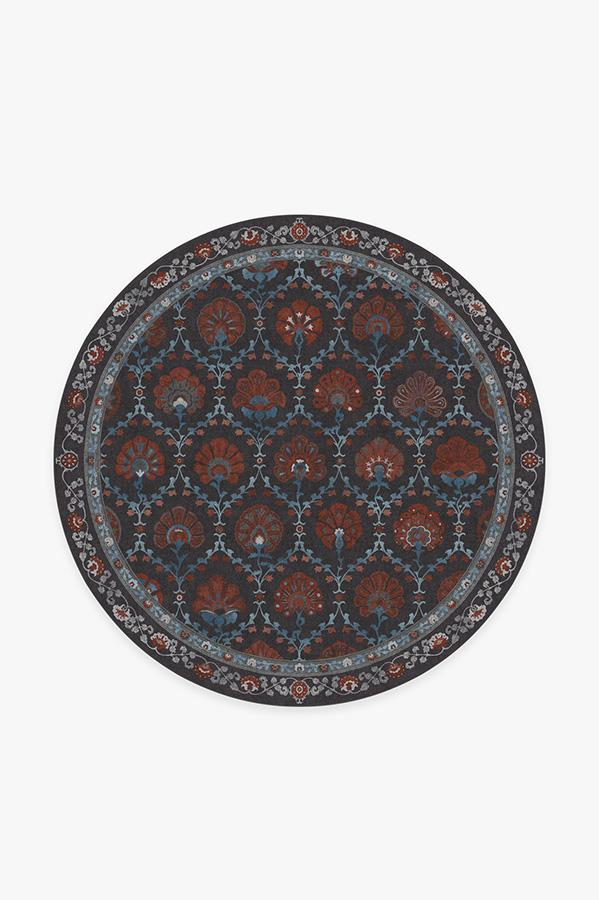 Washable Rug Cover   Sibel Raspberry Rug   Stain-Resistant   Ruggable   6 Round