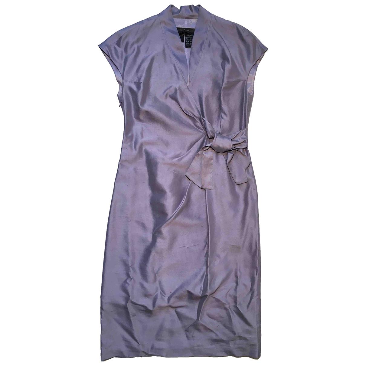 Max Mara \N Purple Silk dress for Women 42 IT