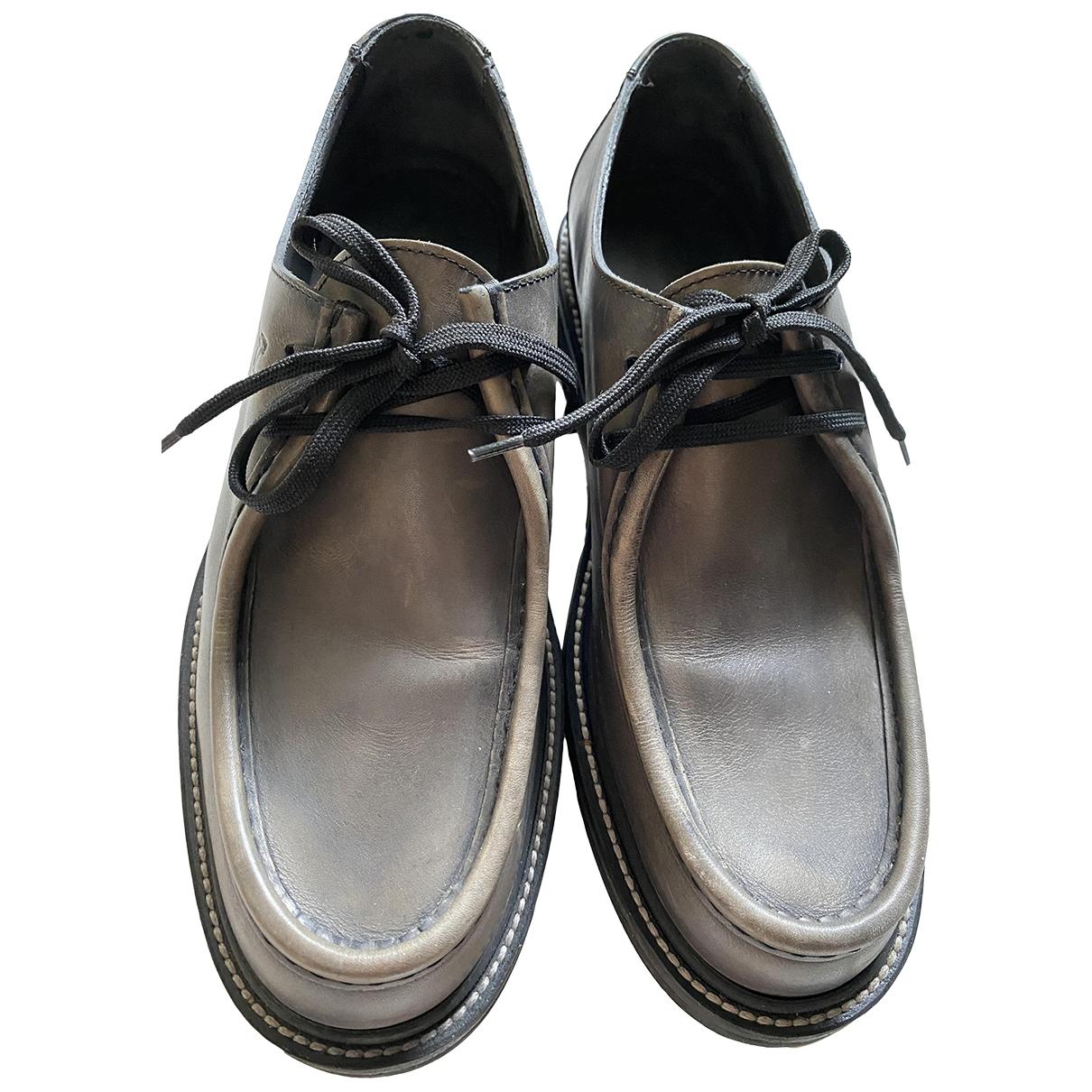 Louis Vuitton - Derbies   pour homme en cuir - gris