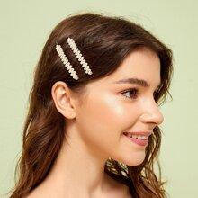 Horquilla con diseño de perla artificial 1 par