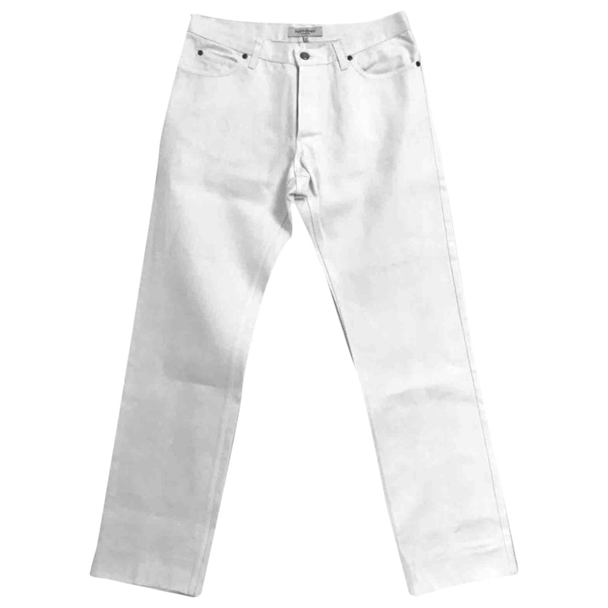 Yves Saint Laurent \N White Cotton Trousers for Men 50 IT
