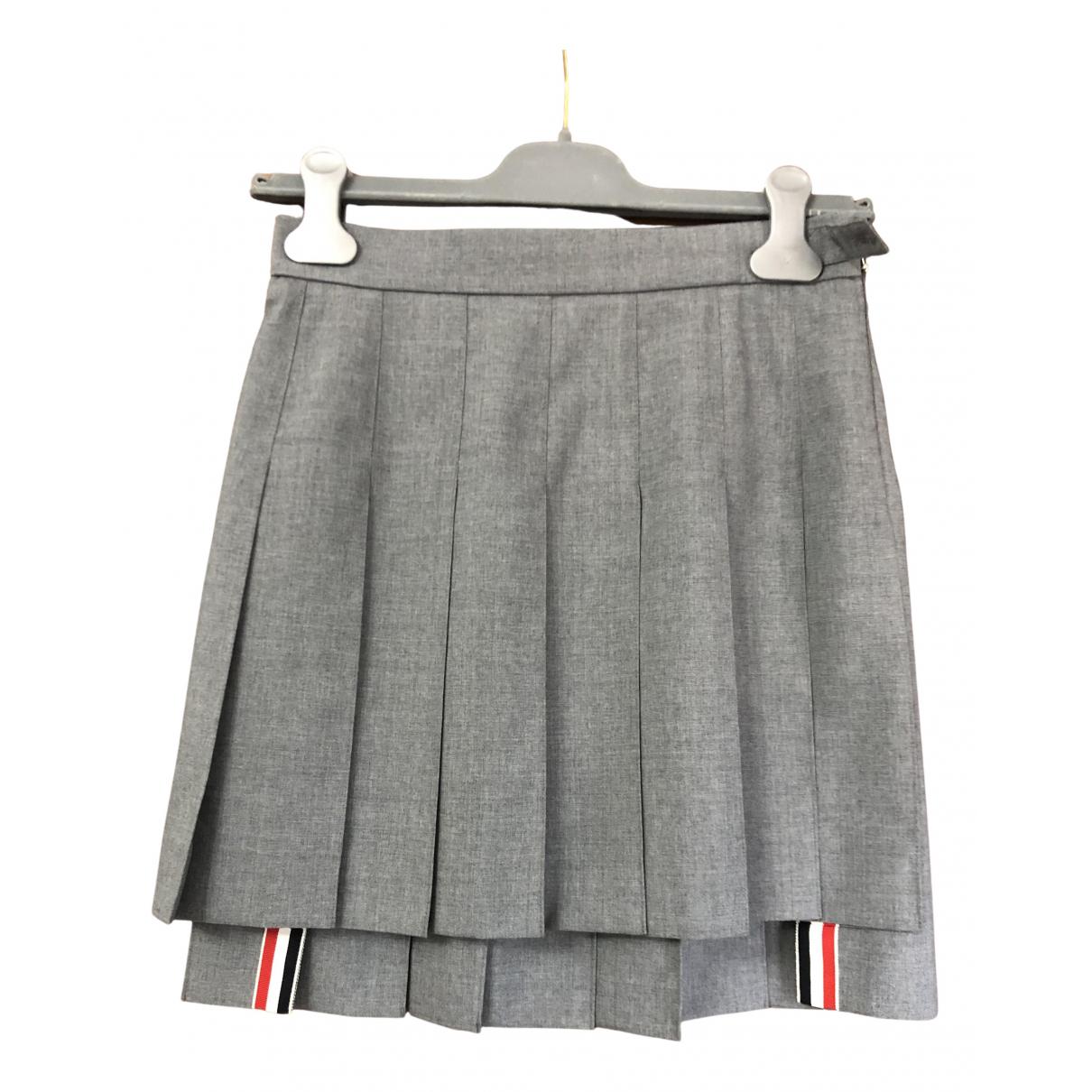 Thom Browne - Jupe   pour femme en coton - gris