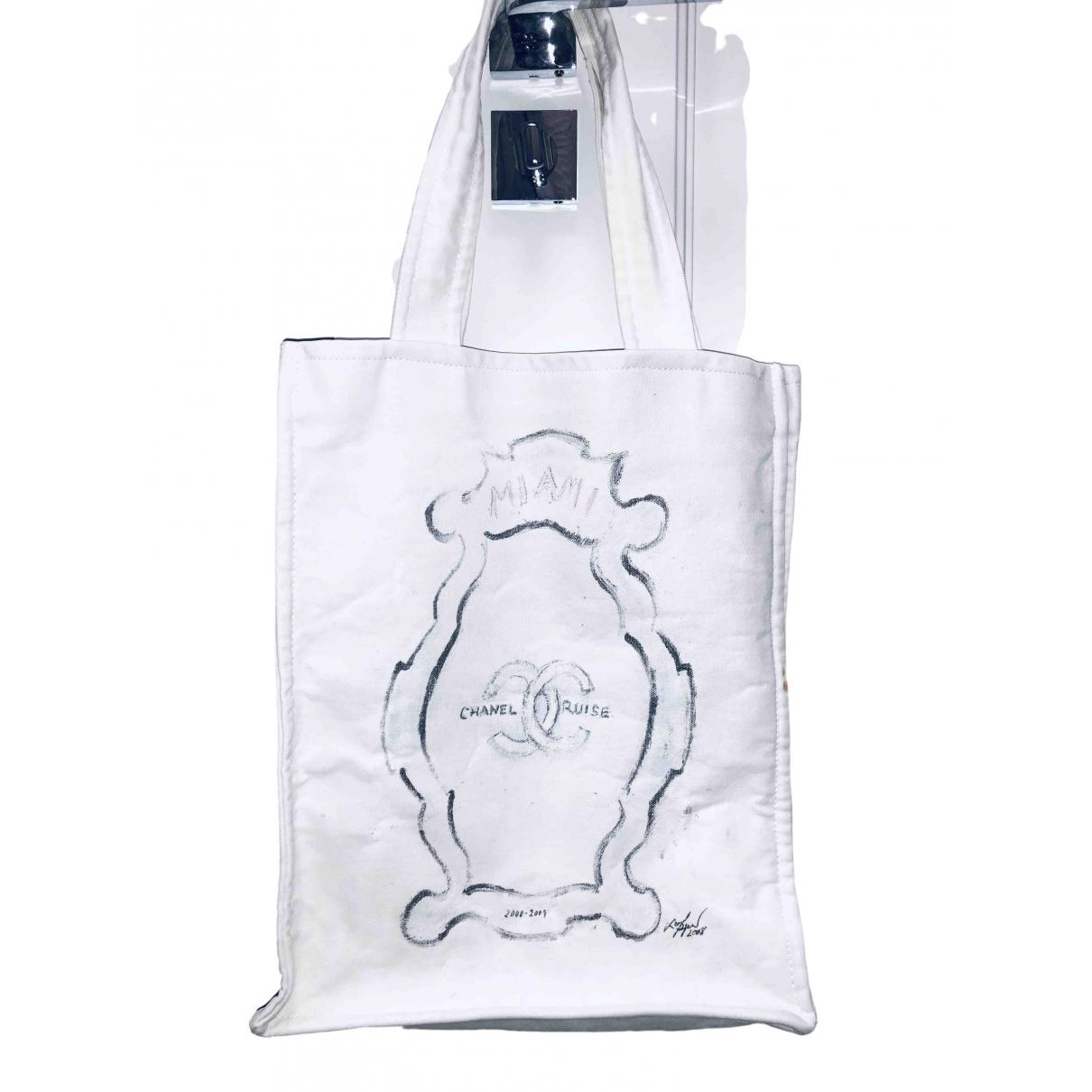 Chanel \N Handtasche in  Weiss Leinen