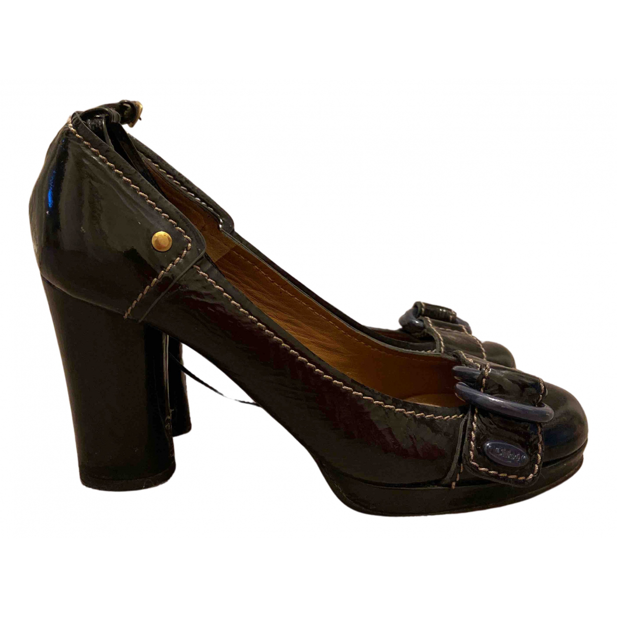 Chloé N Black Patent leather Heels for Women 38 IT