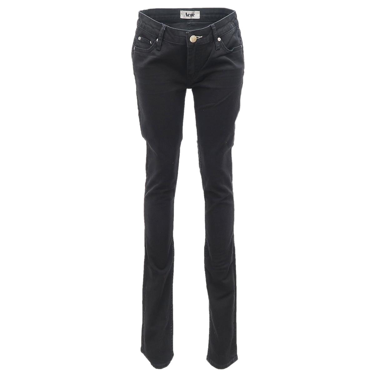 Acne Studios \N Black Cotton - elasthane Jeans for Women 27 US