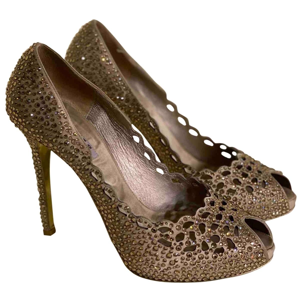 Le Silla - Escarpins   pour femme en a paillettes - dore