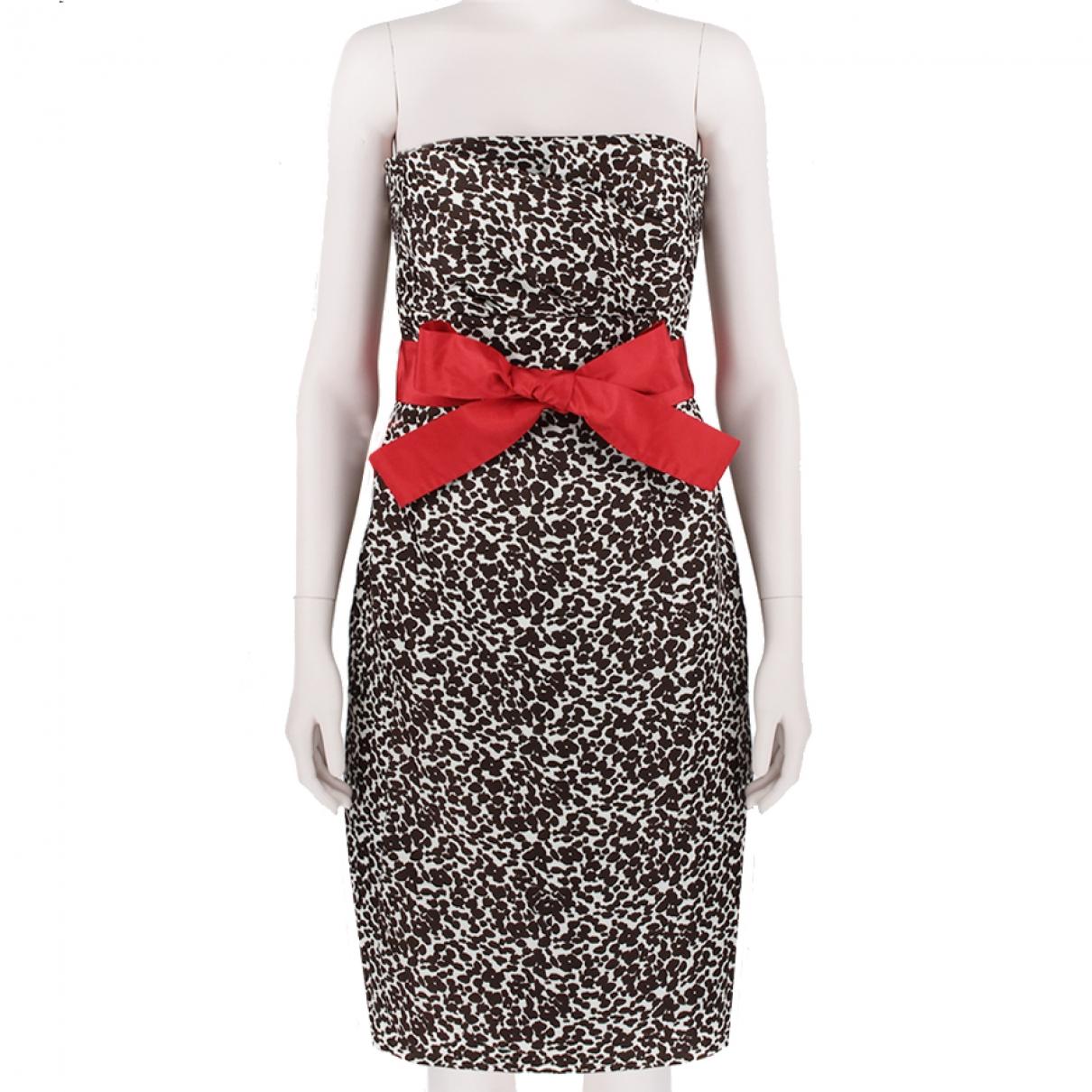 Monique Lhuillier \N Kleid in  Bunt Seide