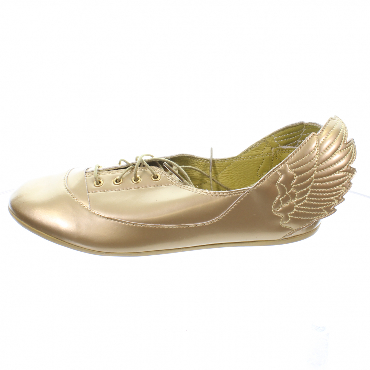Jeremy Scott Pour Adidas \N Gold Leather Trainers for Women 5 UK