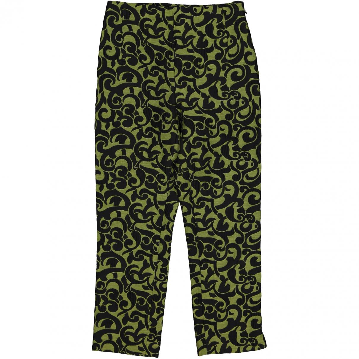 Prada \N Green Cotton Trousers for Women 38 IT