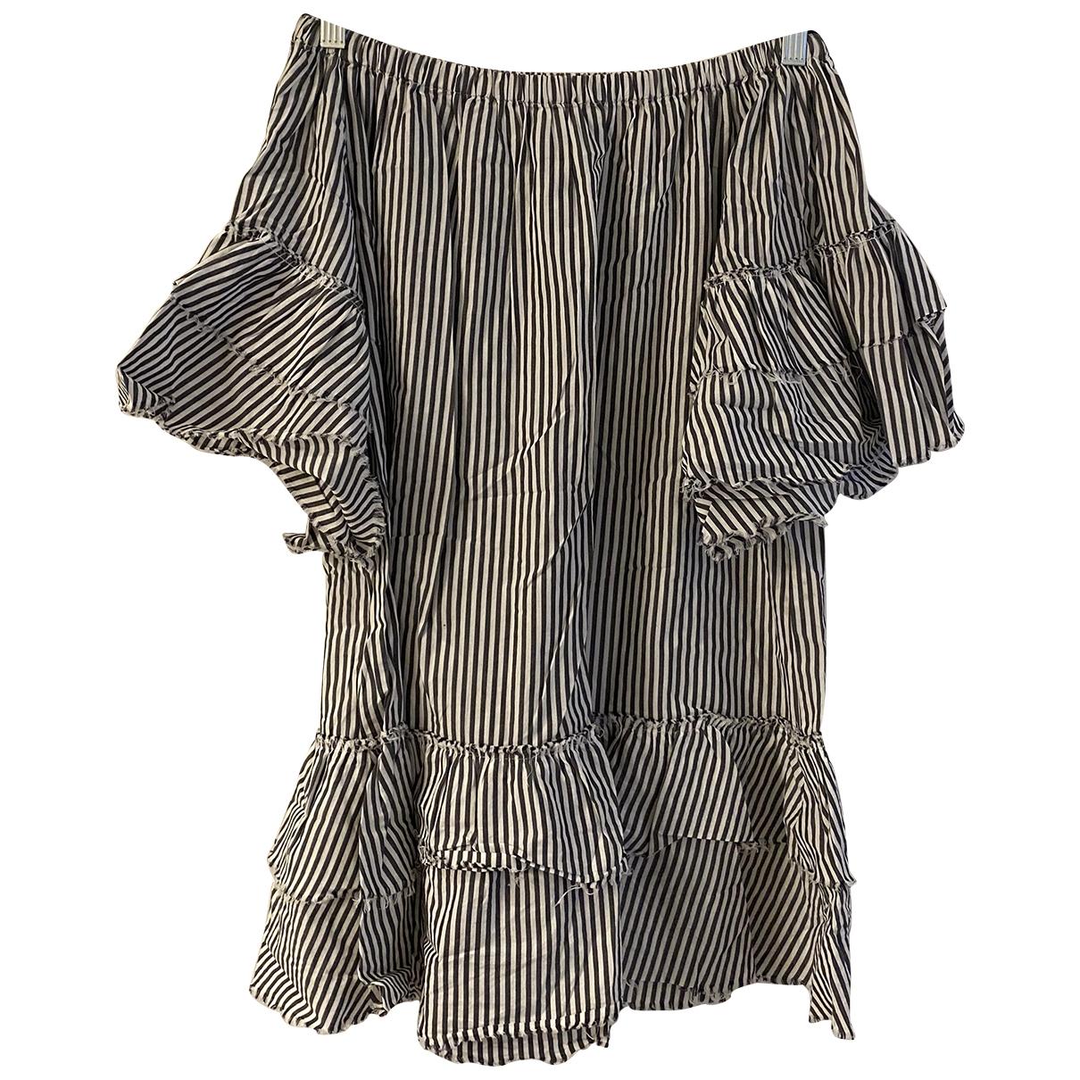 Zara - Robe   pour femme en coton - blanc