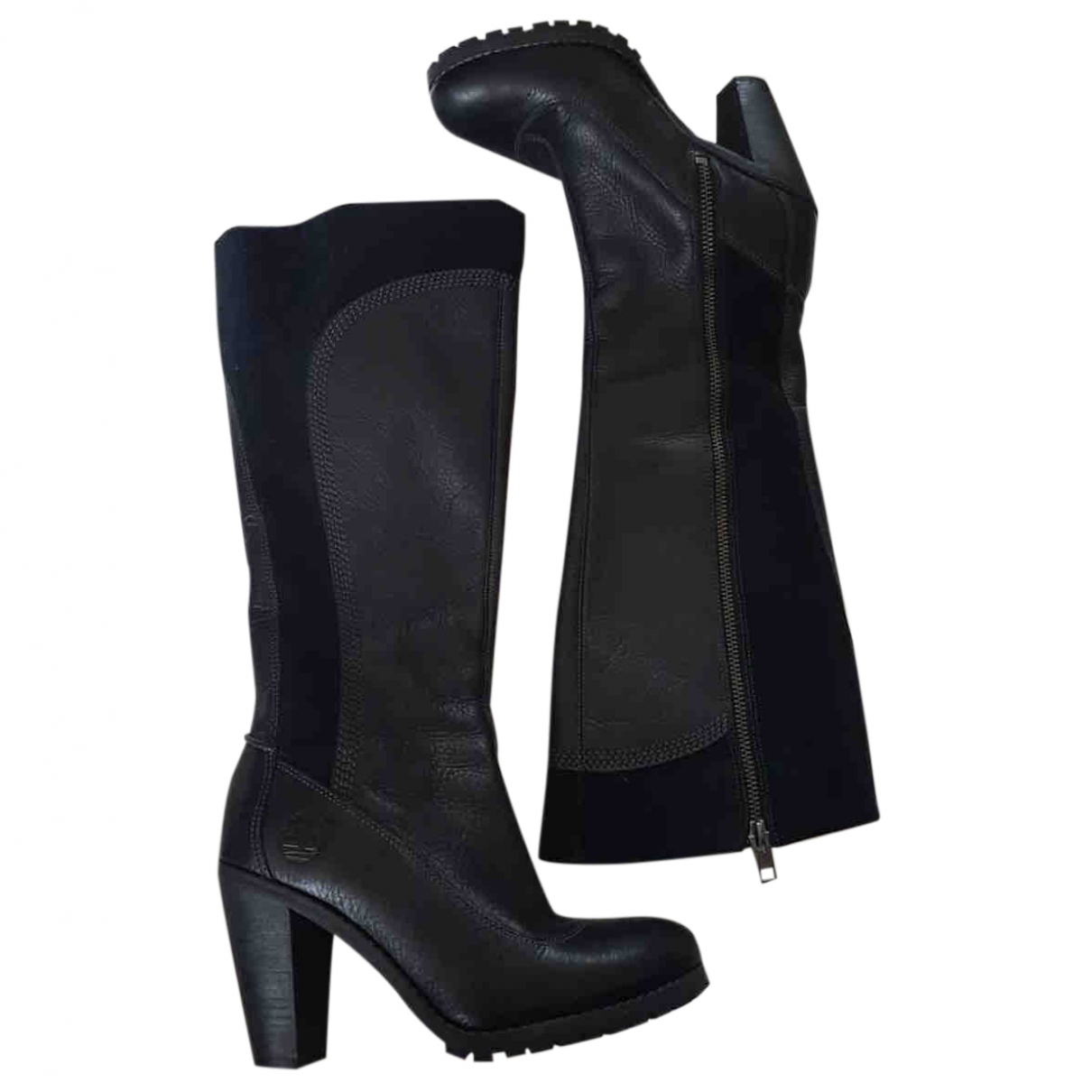 Timberland \N Black Leather Boots for Women 35 EU