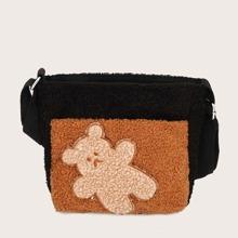 Fluffy Cartoon Graphic Crossbody Bag