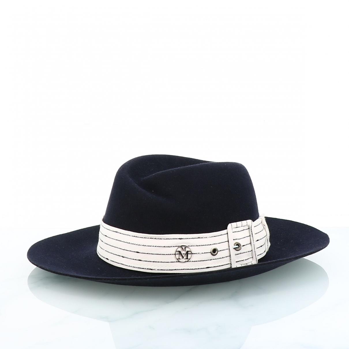 Maison Michel \N Black Wool hat for Women M International