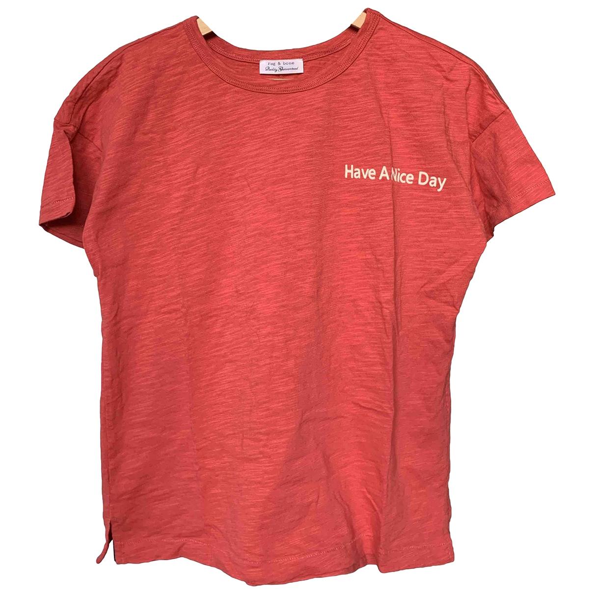 Rag & Bone - Top   pour femme en coton - rouge