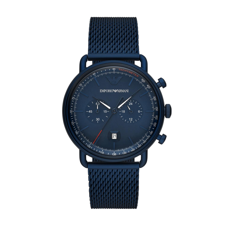 Emporio Armani Men's Aviator AR11289 Blue Stainless-Steel Quartz Fashion Watch