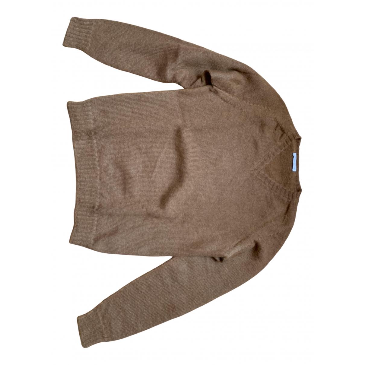Roberto Collina \N Pullover.Westen.Sweatshirts  in  Braun Wolle