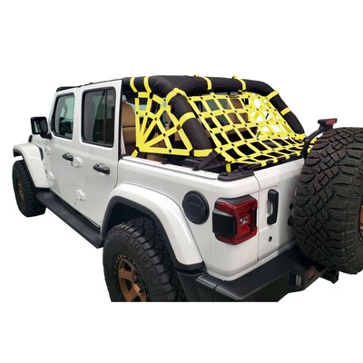DirtyDog 4x4 3-Piece Cargo Netting Kit with Spider Sides (Yellow) - JL4N18RSYL