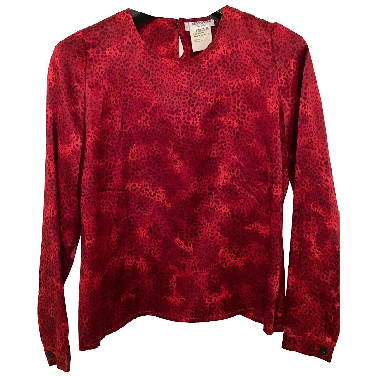 Yves Saint Laurent \N Red Silk  top for Women 42 FR