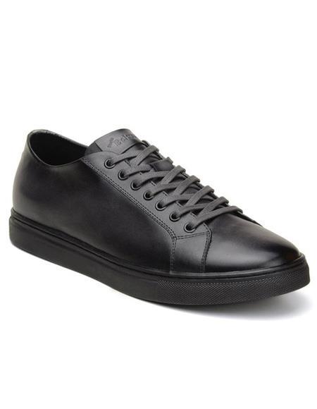 Mens Lace Up Charcoal Shoe