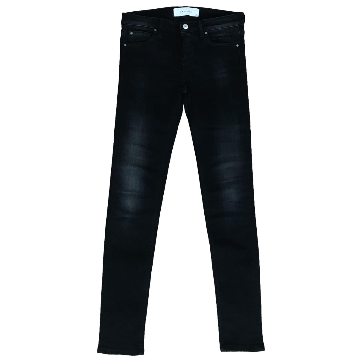 Iro \N Black Cotton - elasthane Jeans for Women 27 US