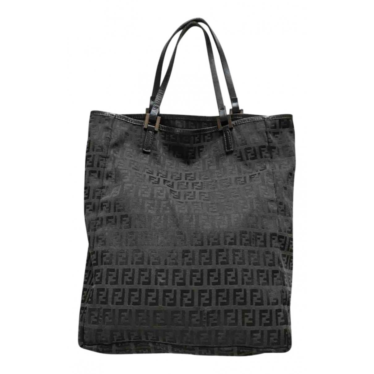 Fendi \N Handtasche in  Schwarz Leinen