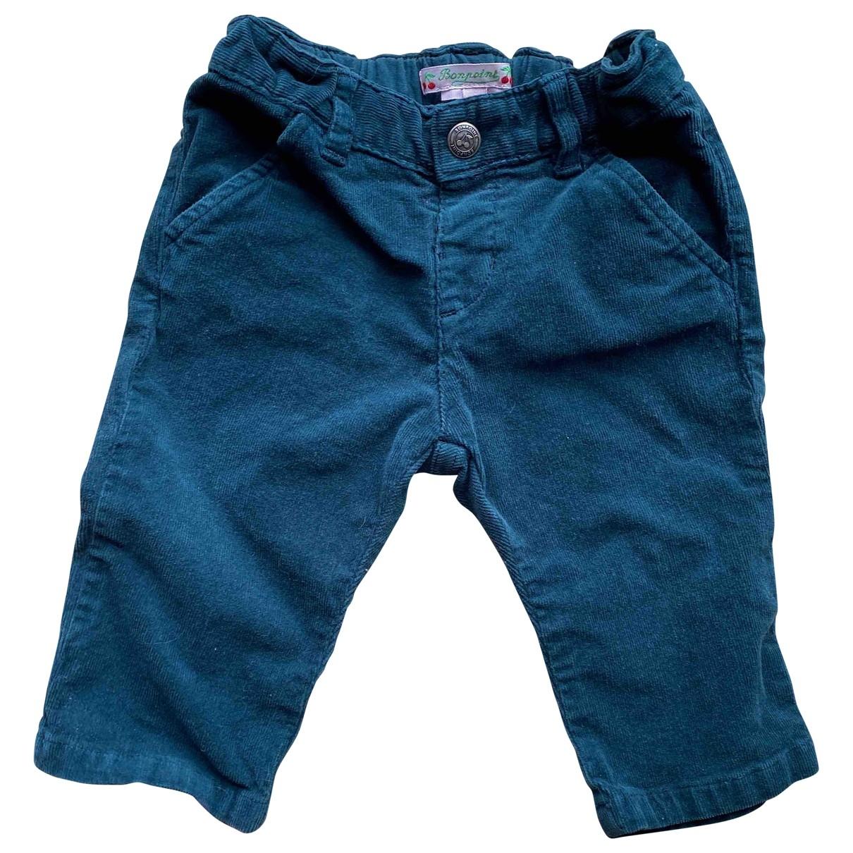 Bonpoint - Pantalon   pour enfant en velours - vert