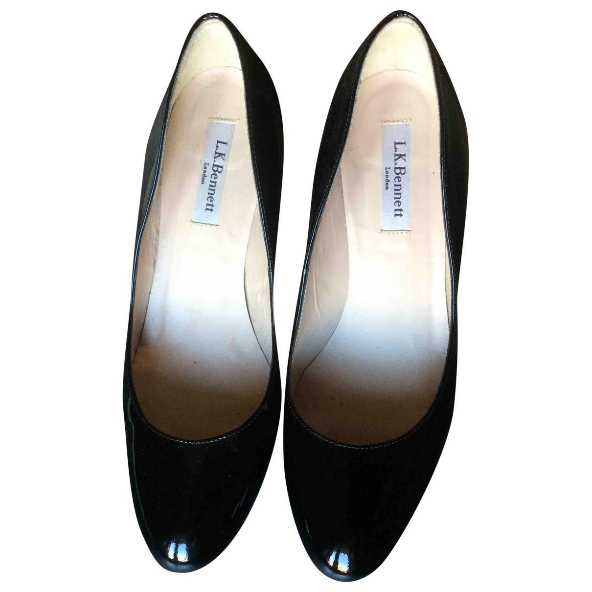Lk Bennett \N Black Patent leather Heels for Women 39 EU