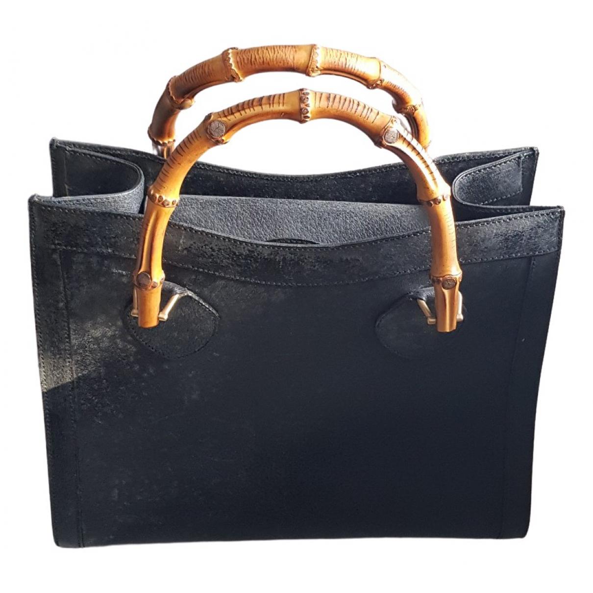 Gucci - Sac a main Bamboo pour femme en cuir - noir
