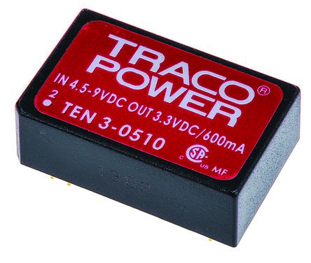 TRACOPOWER TEN 3 3W Isolated DC-DC Converter Through Hole, Voltage in 36 → 72 V dc, Voltage out 15V dc