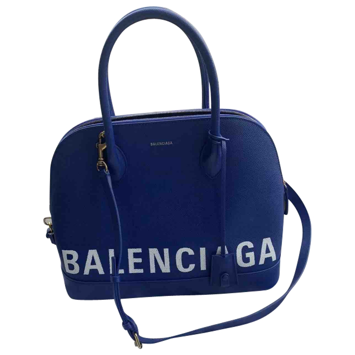 Balenciaga Ville Top Handle Blue Leather handbag for Women \N
