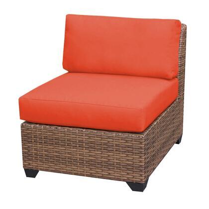 TKC025b-AS-TANGERINE Laguna Armless Sofa with 2 Covers: Wheat and
