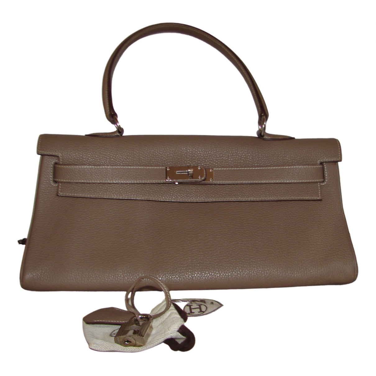 Hermès Kelly Shoulder Beige Leather handbag for Women \N