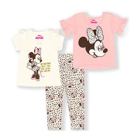 Disney Toddler Girls 3-pc. Minnie Mouse Legging Set, 2t , Beige