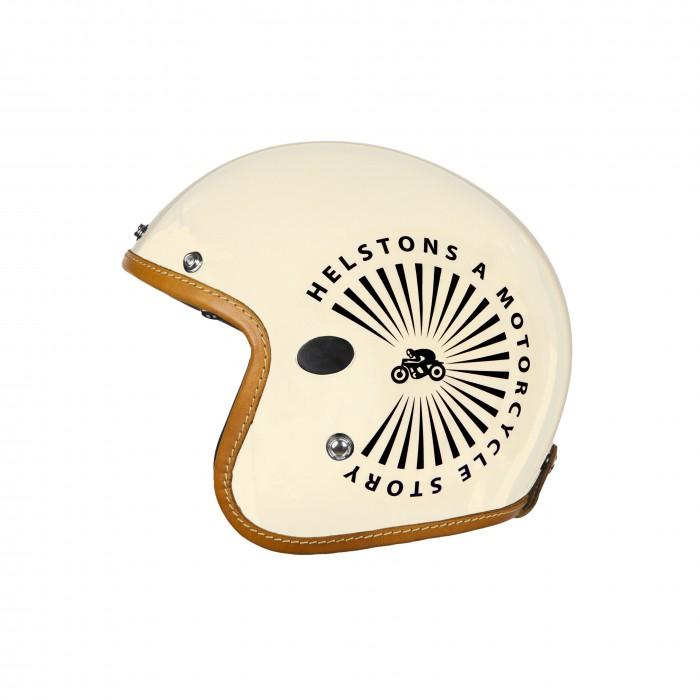 Helstons Sun Carbon Fiber Beige Jet Helmet L