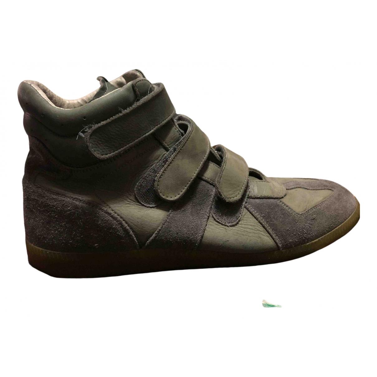 Maison Martin Margiela \N Sneakers in  Gruen Leder