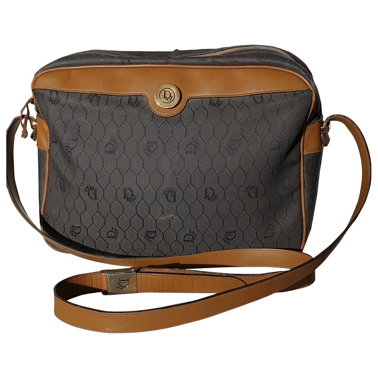Dior \N Handtasche in  Grau Leinen