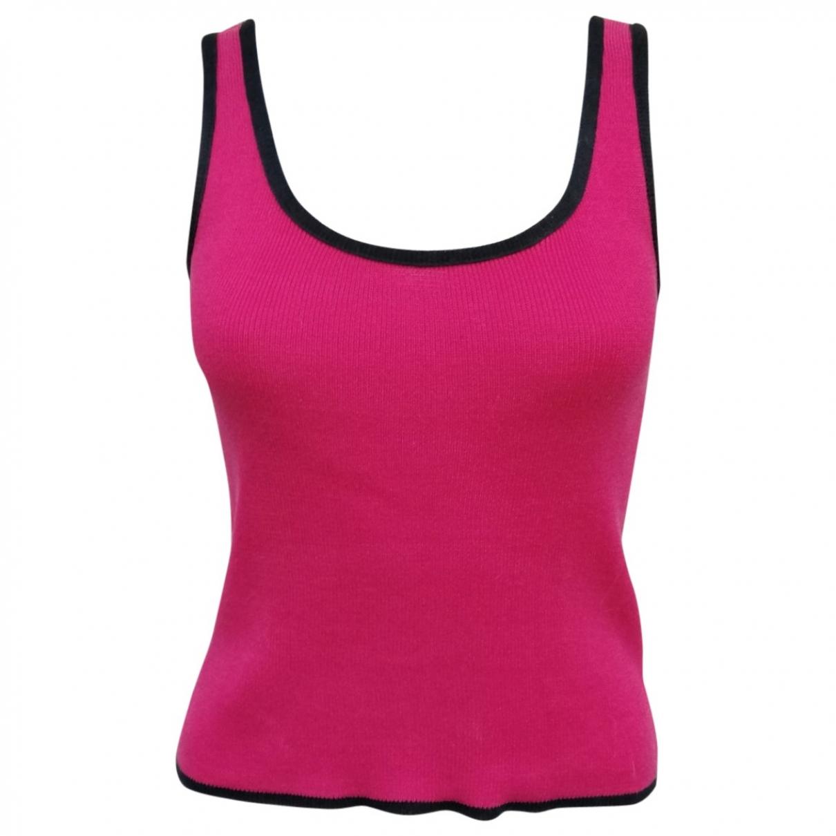 Saint Laurent \N Pink Cotton  top for Women 38 FR