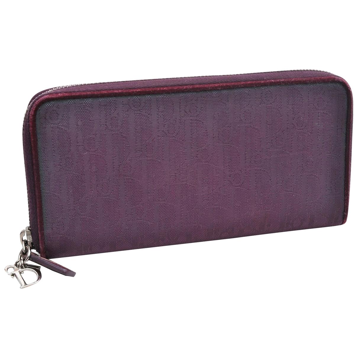 Dior \N Portemonnaie in  Lila Leinen