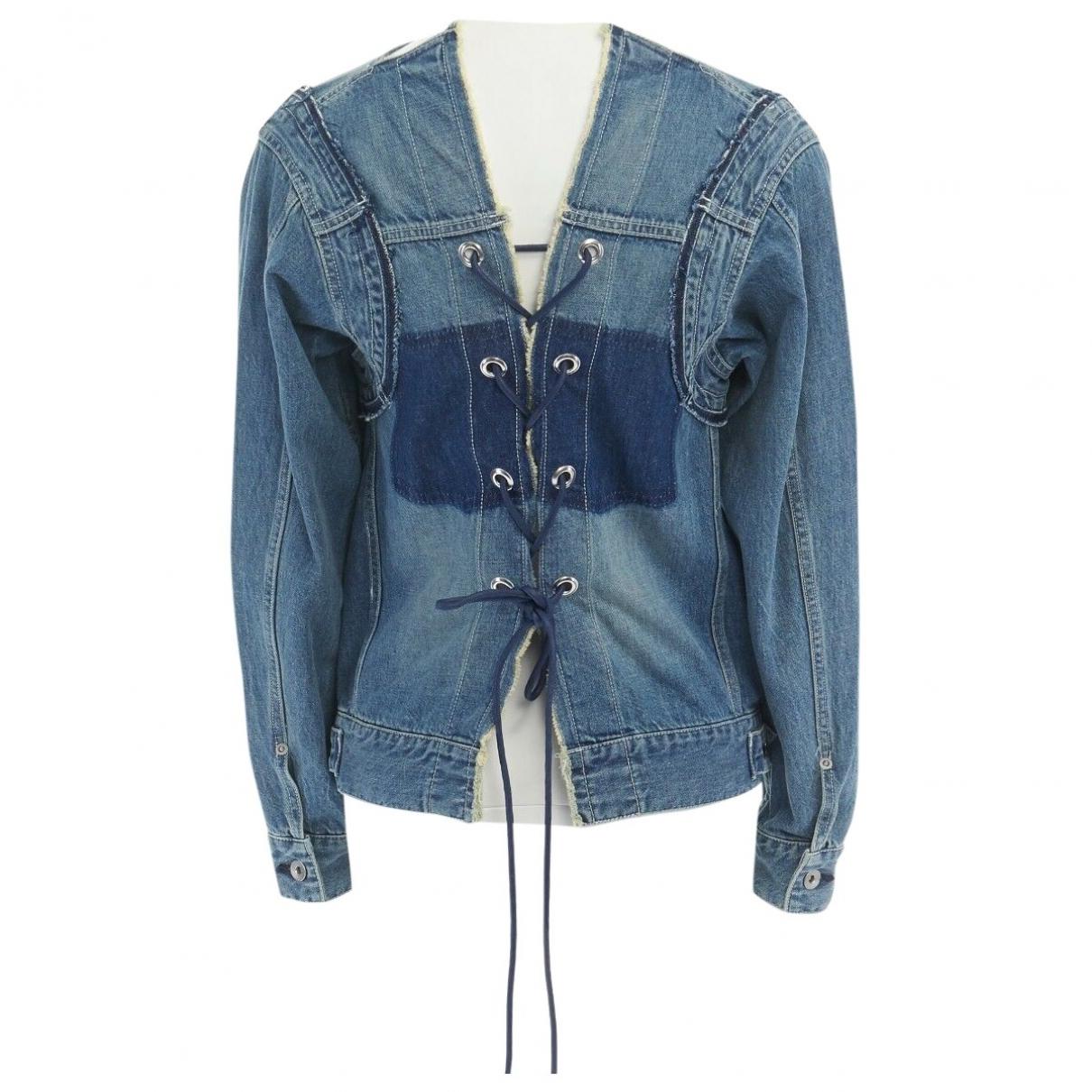 Sacai - Top   pour femme en coton - bleu