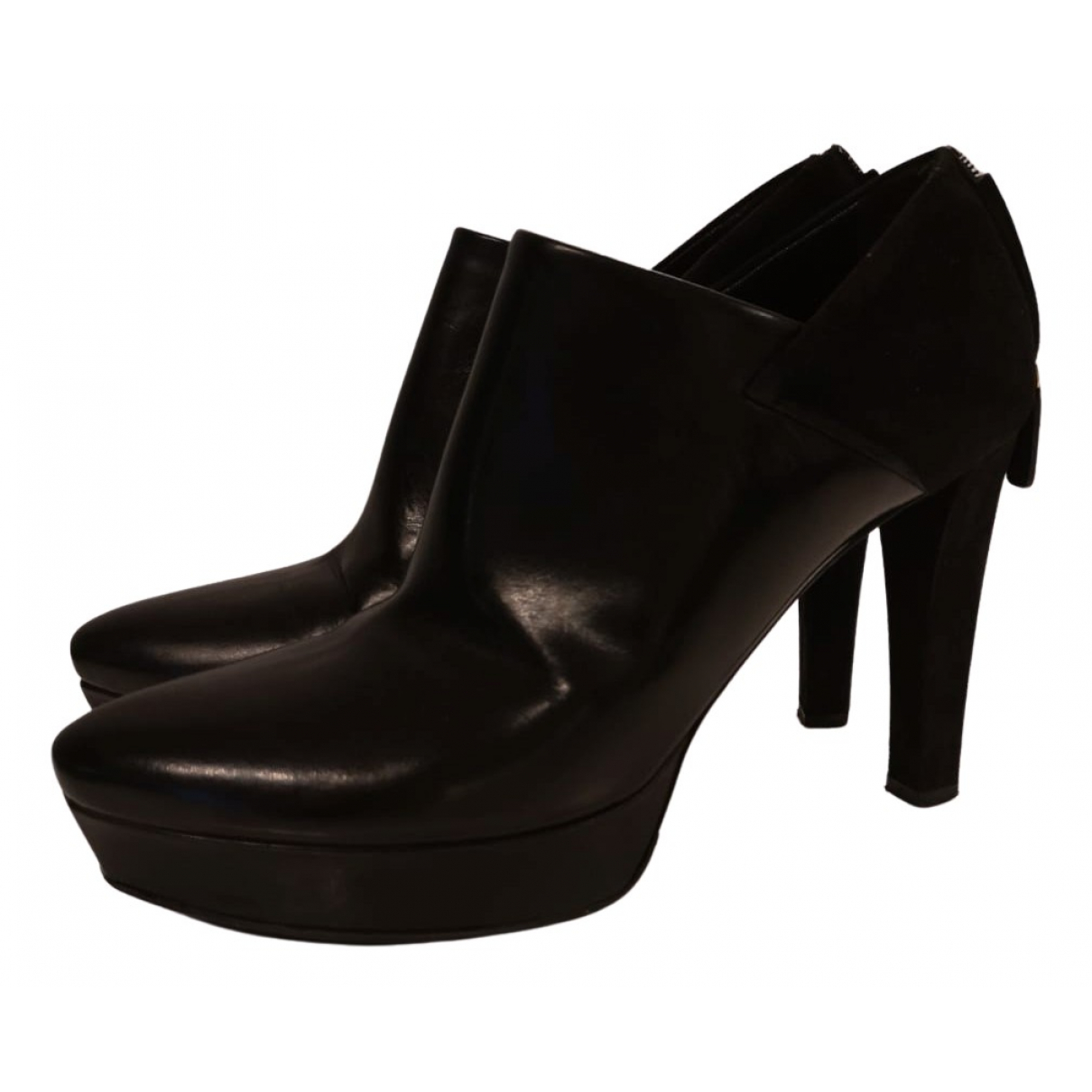 Gucci N Brown Leather Ankle boots for Women 38.5 EU
