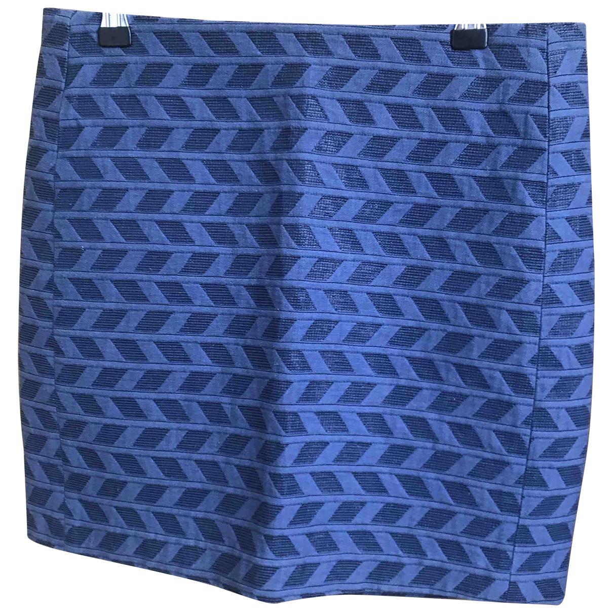 Sezane - Jupe   pour femme en coton - bleu
