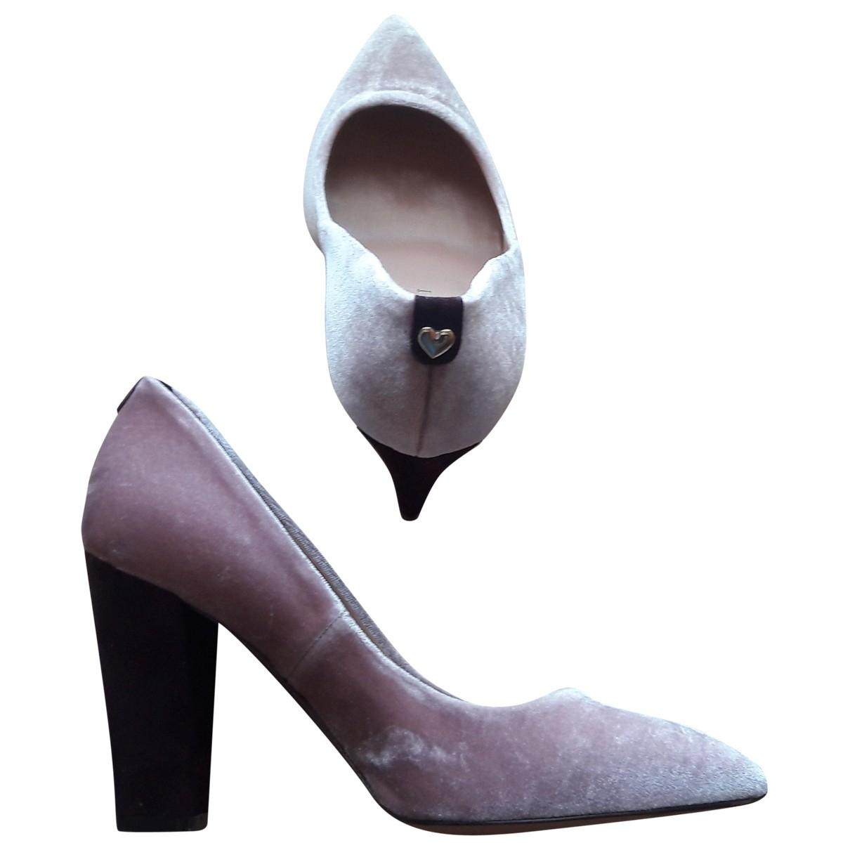 Twin Set \N Pink Velvet Heels for Women 37 EU