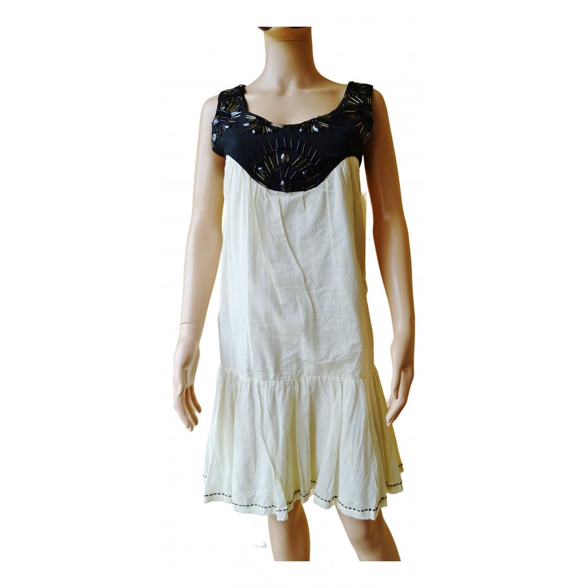 Ambre Et Babzoe \N Kleid in  Ecru Baumwolle
