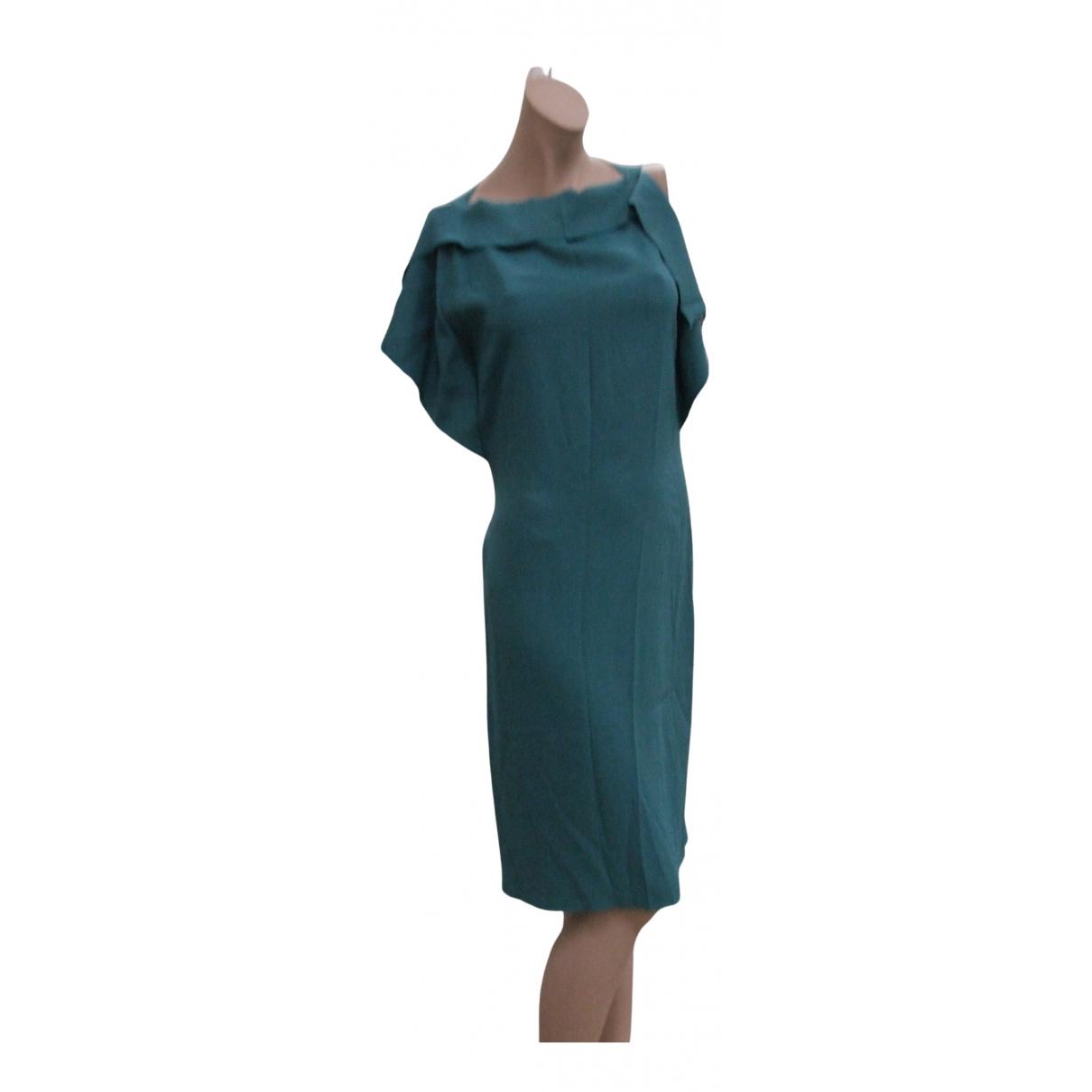 Philosophy Di Alberta Ferretti - Robe   pour femme en soie - vert
