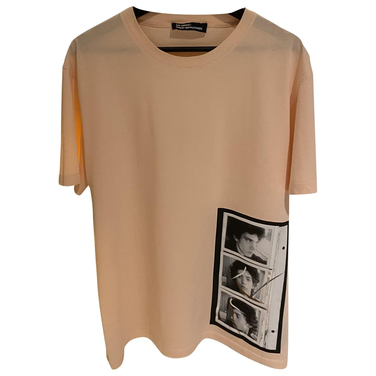 Raf Simons - Tee shirts   pour homme en coton - rose