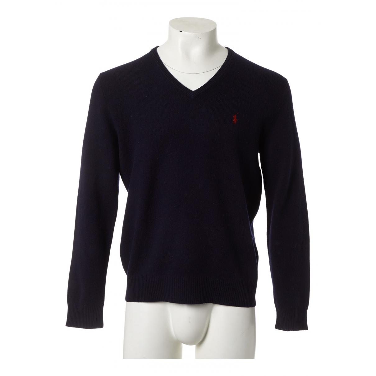 Polo Ralph Lauren \N Pullover.Westen.Sweatshirts  in  Marine Wolle